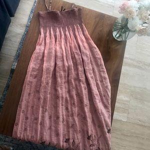 LAPIS Anthropologie Shimmery Tube Dress